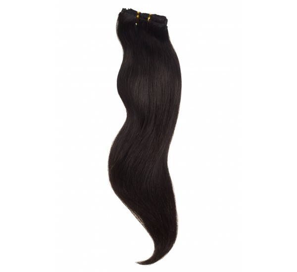 Extensii Par Natural Clip-On Full Head Brunet Natural